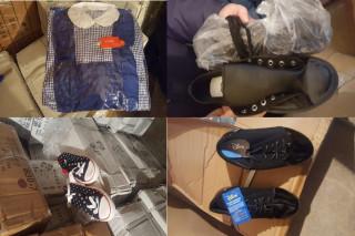 ADJUDECAT - Stoc marfă 8.041 baxuri/cutii îmbrăcăminte, încălțăminte